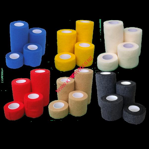 Kt service retaining / conforming retention dressing bandage no glue sticks to itself