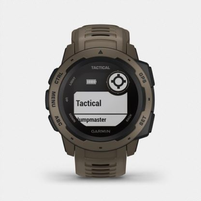 """Instinct tactical hr 2001. 6 <ul> <li>constructed for thermal, shock and water resistance (<a href=""""https://www. Garmin. Com/en-us/legal/waterrating"""">rated to 100 meters</a>)</li> <li>built-in 3-axis compass and barometric altimeter plus multiple global navigation satellite systems (gps, glonass and galileo) support helps track in more challenging environments than gps alone</li> <li>monitor your heart rate¹, activity and stress; train with preloaded activity profiles</li> <li>stay connected with smart notifications² and automatic data uploads to the garmin connect™ online fitness community</li> <li>use the tracback® feature to navigate the same route back to your starting point; use the garmin explore™<a href=""""https://explore. Garmin. Com/account/logon? Returnurl=%2f"""">website</a>and<a href=""""https://buy. Garmin. Com/en-us/us/p/614327"""">app</a>to plan your trips in advance</li> <li>battery life: up to 14 days in smartwatch mode, up to 16 hours in gps mode, up to 40 hours in ultratrac™ battery saver mode</li> </ul>"""