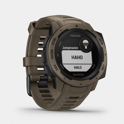 """Instinct tactical hr 2002. 5 <ul> <li>constructed for thermal, shock and water resistance (<a href=""""https://www. Garmin. Com/en-us/legal/waterrating"""">rated to 100 meters</a>)</li> <li>built-in 3-axis compass and barometric altimeter plus multiple global navigation satellite systems (gps, glonass and galileo) support helps track in more challenging environments than gps alone</li> <li>monitor your heart rate¹, activity and stress; train with preloaded activity profiles</li> <li>stay connected with smart notifications² and automatic data uploads to the garmin connect™ online fitness community</li> <li>use the tracback® feature to navigate the same route back to your starting point; use the garmin explore™<a href=""""https://explore. Garmin. Com/account/logon? Returnurl=%2f"""">website</a>and<a href=""""https://buy. Garmin. Com/en-us/us/p/614327"""">app</a>to plan your trips in advance</li> <li>battery life: up to 14 days in smartwatch mode, up to 16 hours in gps mode, up to 40 hours in ultratrac™ battery saver mode</li> </ul>"""