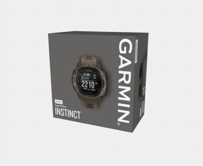 """Instinct tactical pkg 2000 <ul> <li>constructed for thermal, shock and water resistance (<a href=""""https://www. Garmin. Com/en-us/legal/waterrating"""">rated to 100 meters</a>)</li> <li>built-in 3-axis compass and barometric altimeter plus multiple global navigation satellite systems (gps, glonass and galileo) support helps track in more challenging environments than gps alone</li> <li>monitor your heart rate¹, activity and stress; train with preloaded activity profiles</li> <li>stay connected with smart notifications² and automatic data uploads to the garmin connect™ online fitness community</li> <li>use the tracback® feature to navigate the same route back to your starting point; use the garmin explore™<a href=""""https://explore. Garmin. Com/account/logon? Returnurl=%2f"""">website</a>and<a href=""""https://buy. Garmin. Com/en-us/us/p/614327"""">app</a>to plan your trips in advance</li> <li>battery life: up to 14 days in smartwatch mode, up to 16 hours in gps mode, up to 40 hours in ultratrac™ battery saver mode</li> </ul>"""